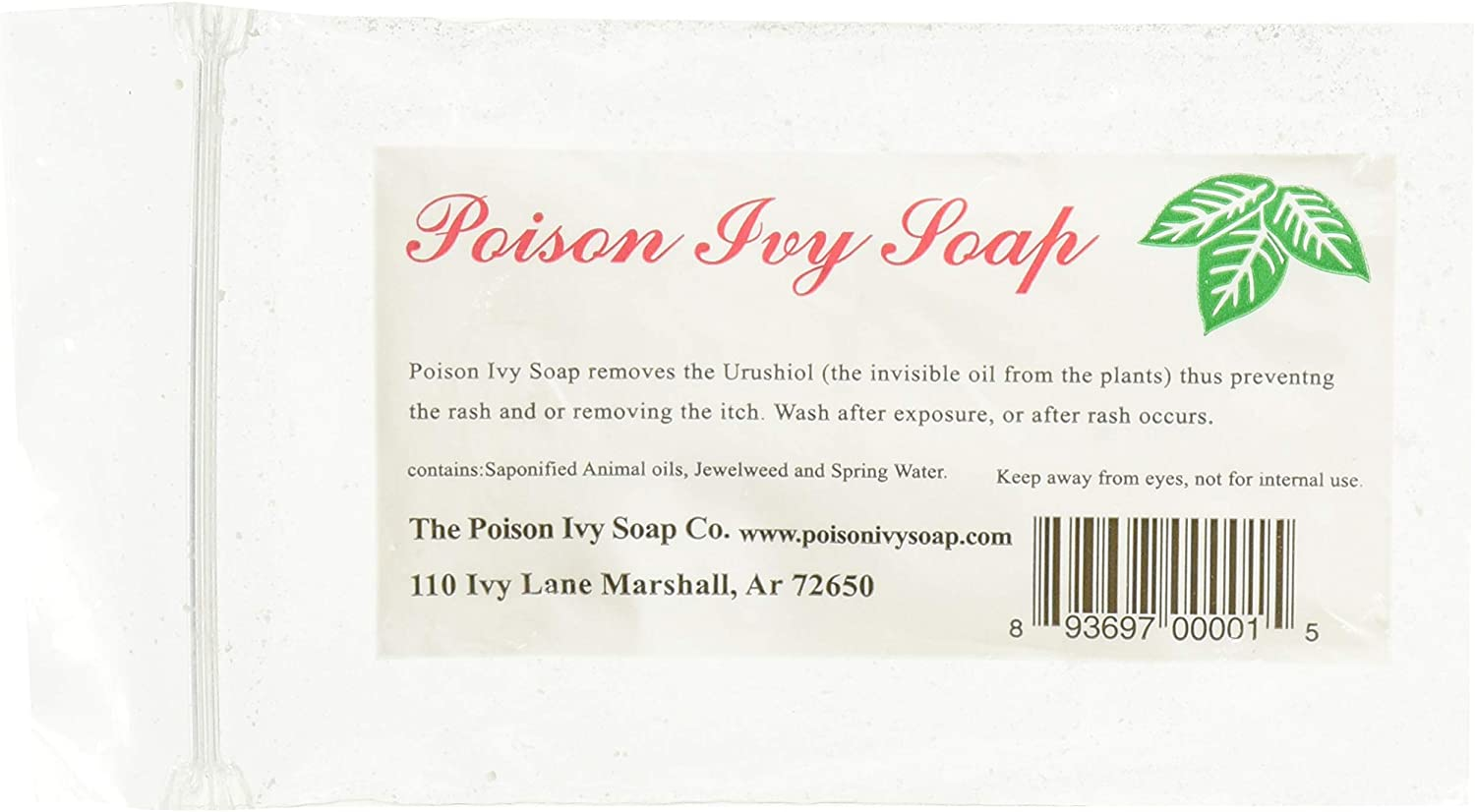 Stop The Itch with Poison Ivy Soap – All Natural Relief from Poison Ivy, Poison Oak, or Sumac, Safe for The Entire Family – Jewelweed Neutralizes Itching, Irritation, Removes Urushiol – 3 Pack
