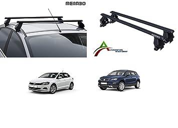 Sistema di Montaggio con Barre Barre PORTATUTTO Portapacchi da Tetto per Auto Senza RAILINGS Kit di Attacco SPECIFICO per Auto