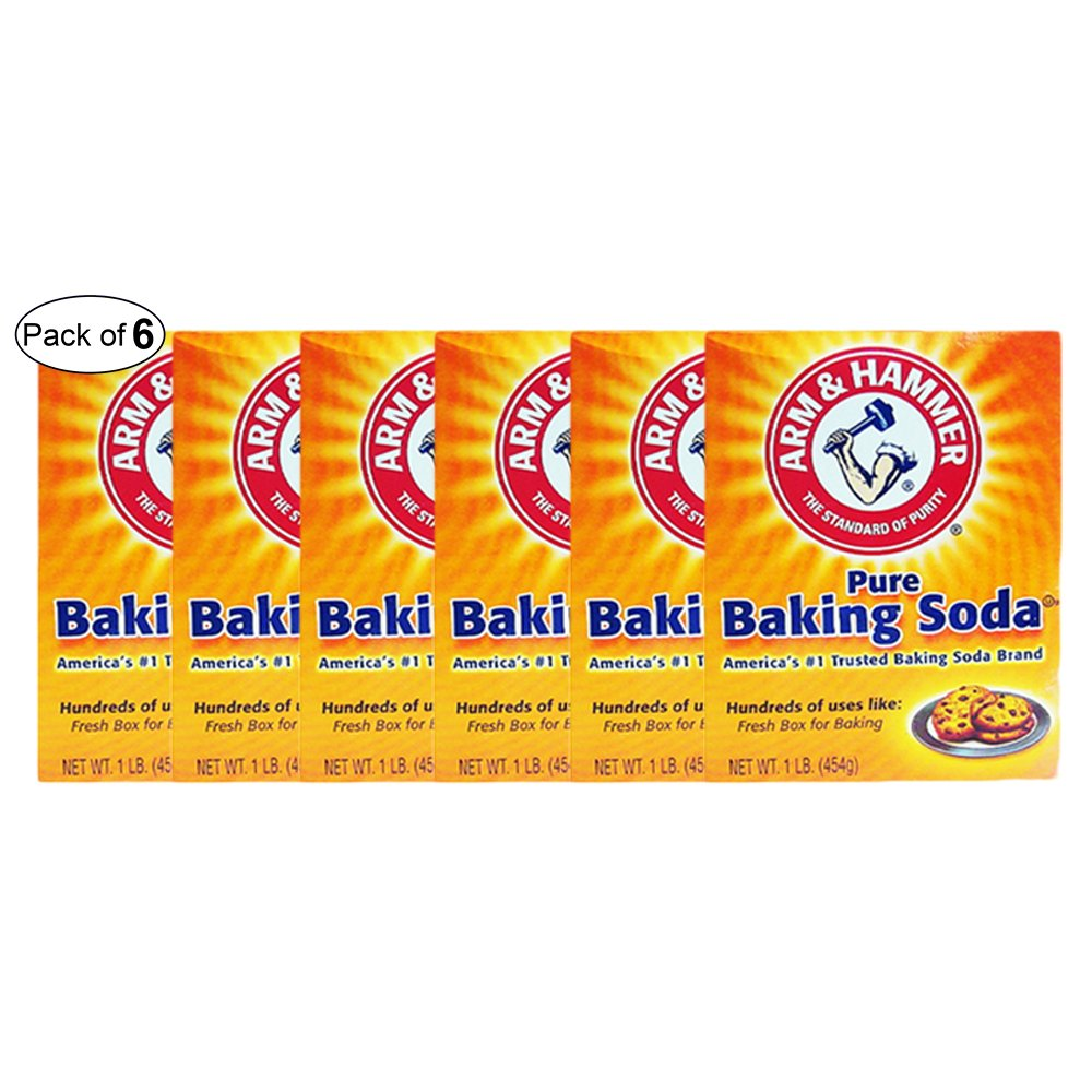 Arm & Hammer- Pure Baking Soda (454 G) (Pack of 6) by Arm & Hammer (Image #1)