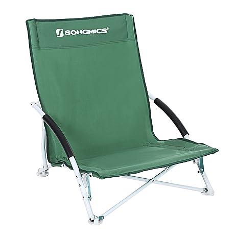 Songmics bajo plegable silla de playa para pesca jardín Camping, verde