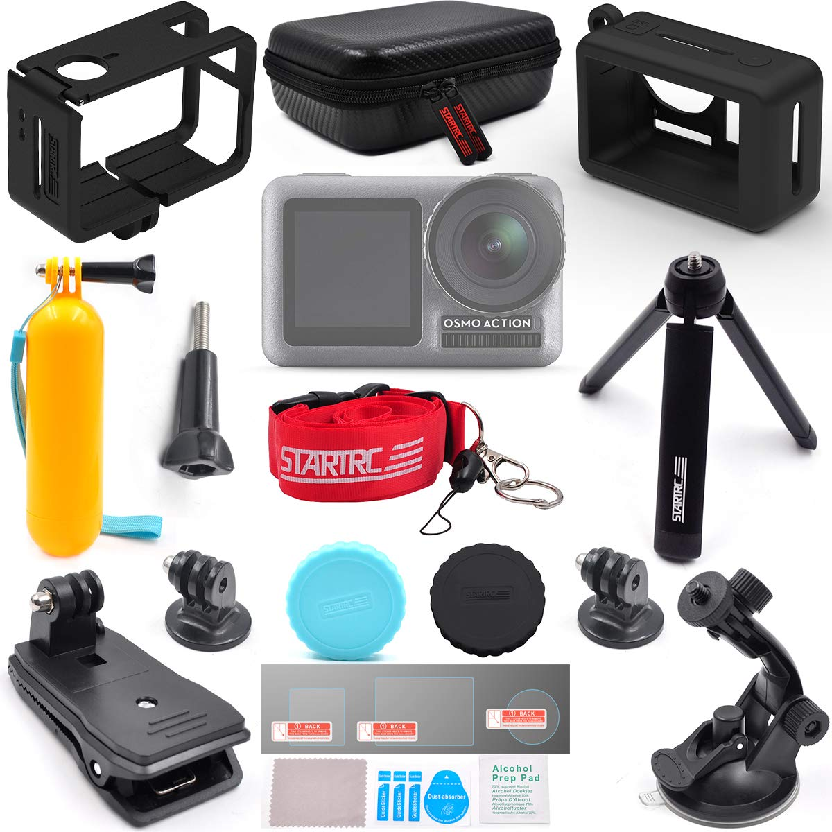 TOMAT OSMO Action Accessories Expansion Kit for DJI OSMO Action Camera Mount