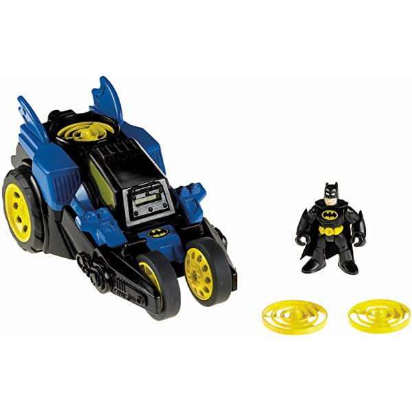 Fisher-Price Imaginext Motorised Batmobile Batman Car 3 years DC Super Friends