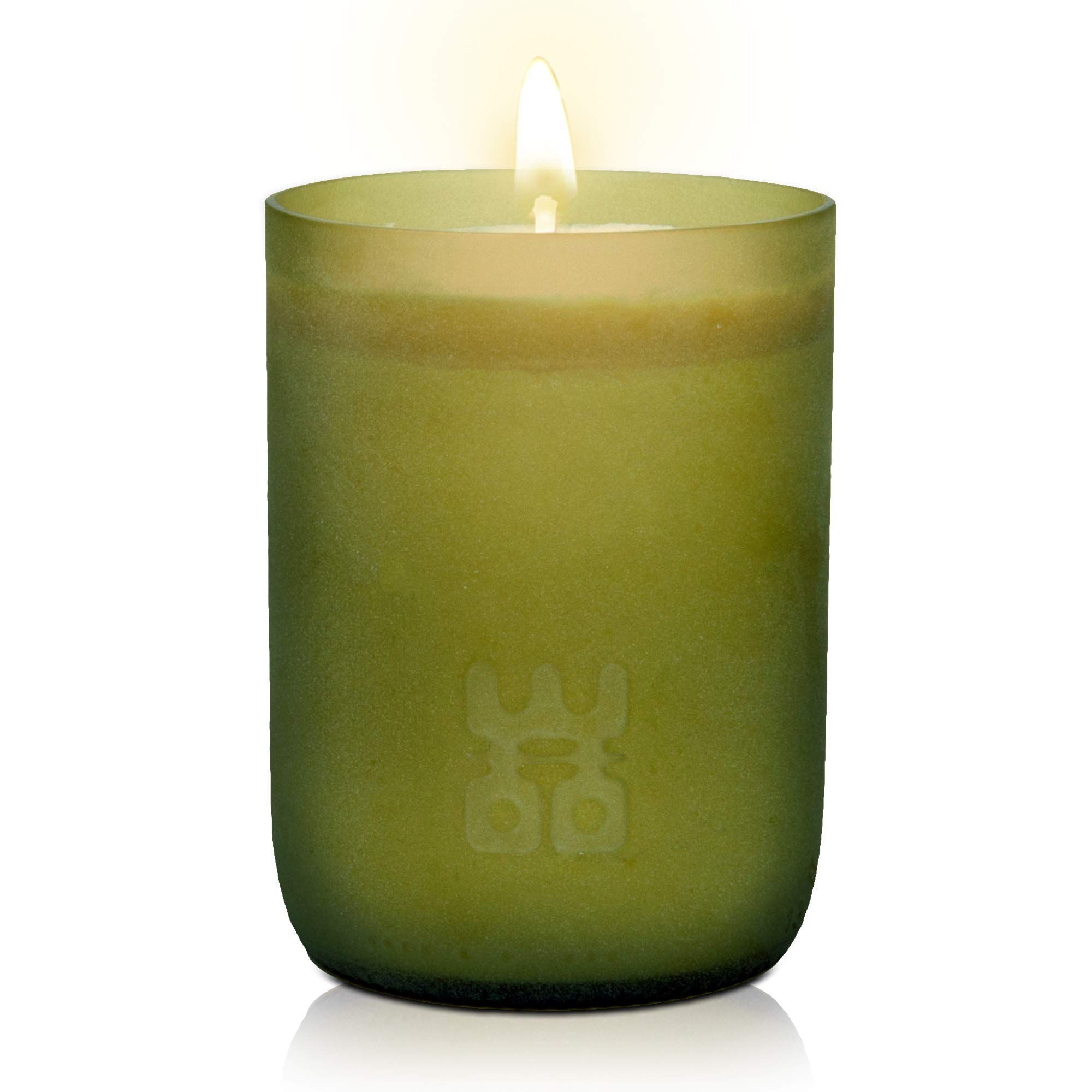 WOO Lucky Stress Relieving Tranquility Fragrance Recycled Wine Bottle Candle 90 Hour Burn