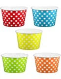 Primary Polka Dot Ice Cream Cups 8 oz - 50 count