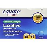 Equate - Laxative, Maximum Strength, Sennosides 25 mg, 24 Pills (Compare to ex-lax)