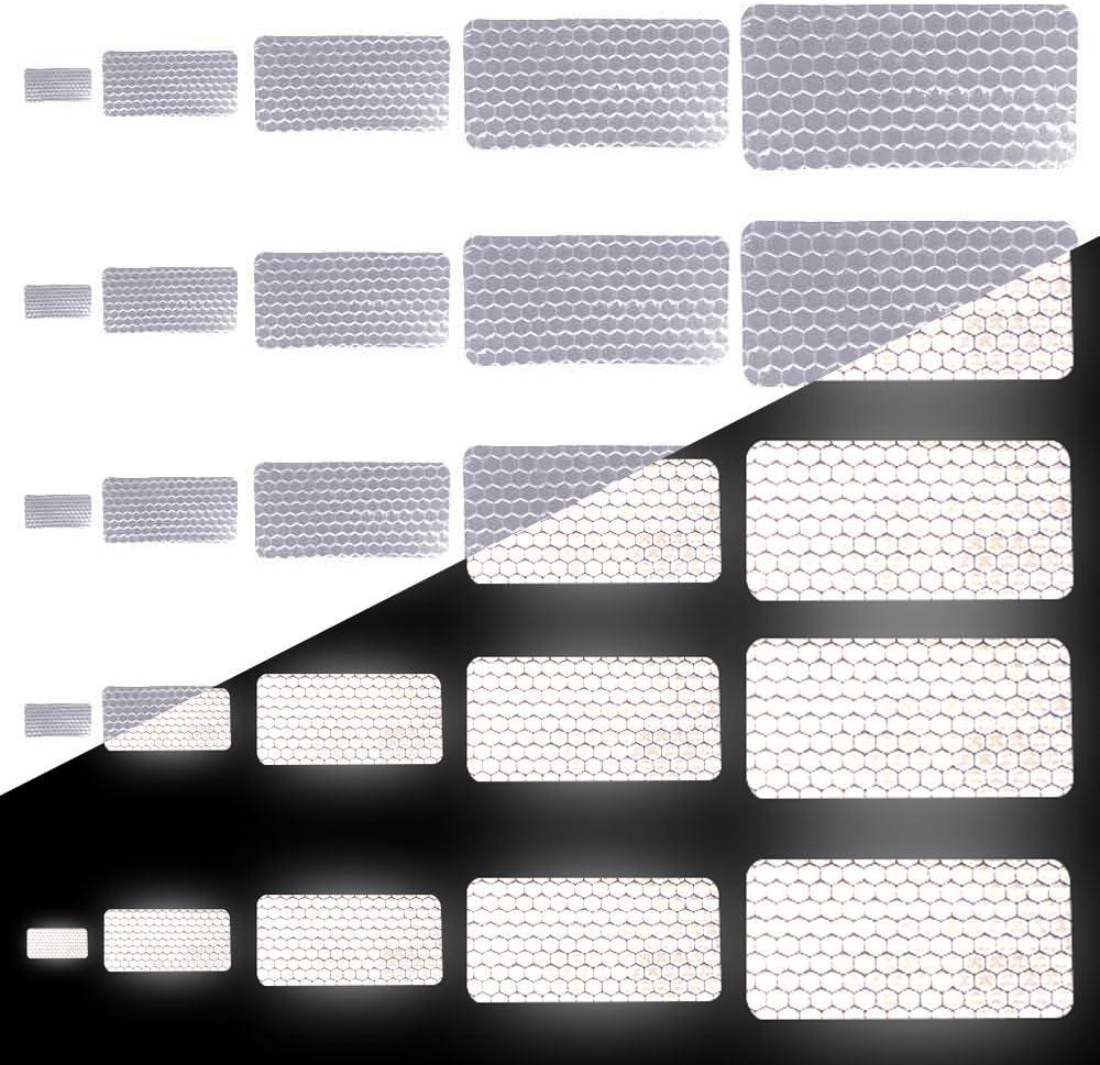 AGPTEK Reflective Stickers Tape,Night Visibility Safety Universal Adhesive 38PCS