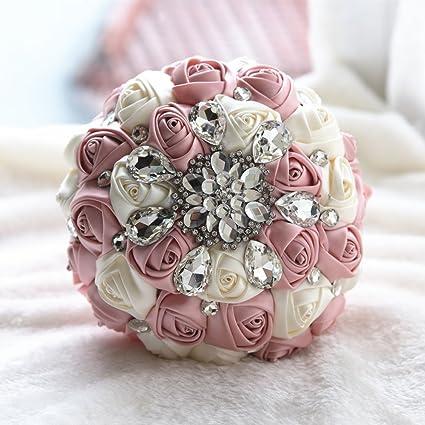 amazon com multi color romantic bride wedding holding bouquet peal
