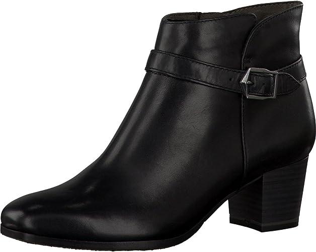Womens Tamaris Wortmann Leather Black Zip Up Boots 39