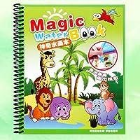Ocamo Libro de Dibujo de Agua mágica para niños Libro de Colorear de Pintura de Agua Reutilizable Libro de Dibujo Educativo con Pluma de Magic Doodle