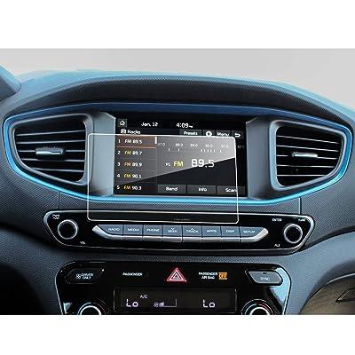 LFOTPP Hyundai Ioniq Hybrid Elektro 7 pulgadas Navegación Protector de pantalla - 9H Cristal Vidrio Templado GPS Navi película protegida Glass
