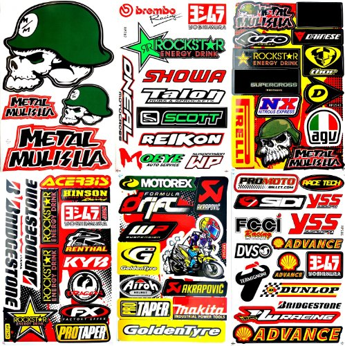 Motocross Motorcycles Dirt Bikes skateboard Lot 6 vinyl decals stickers D6041 (Rockstar Dirt Bike Helmets)