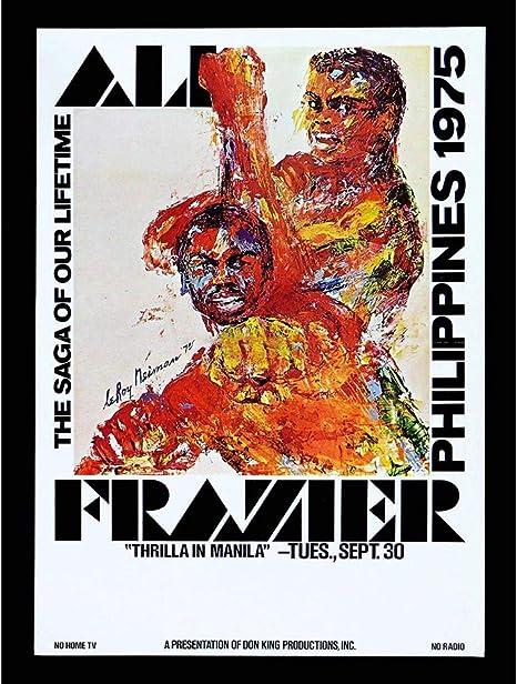 Thrilla in Manila Ali v Frazier Boxing Premium METAL Poster Art Print Gift