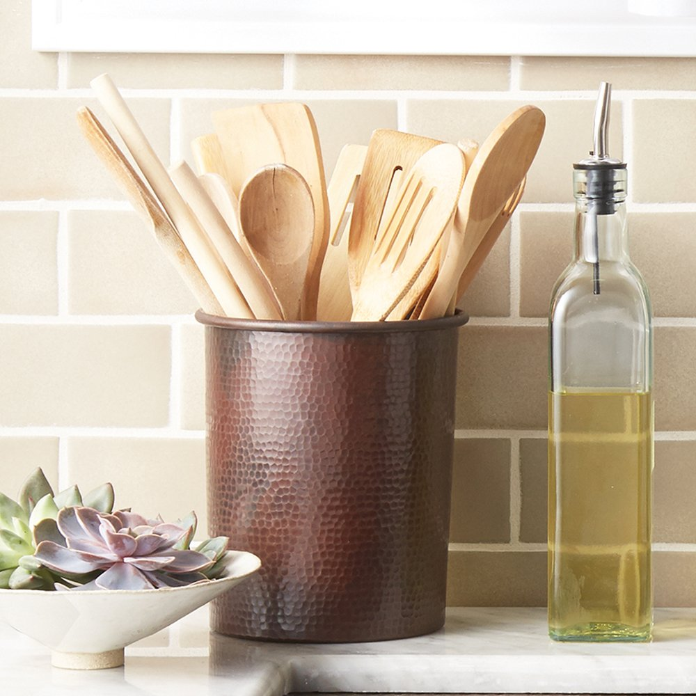 Native Trails Brushed Nickel Utensil Holder 7 Inch by 6 Inch