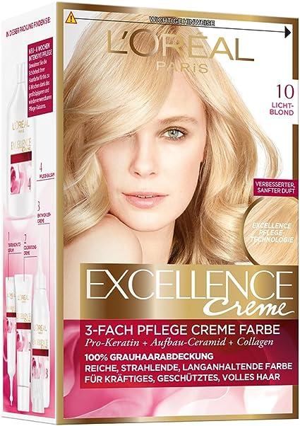 LOréal Paris Excellence Coloración Permanente, 10 Rubio Claro - 172 ml