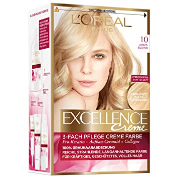 loral paris excellence creme coloration 10 lichtblond - Coloration Excellence