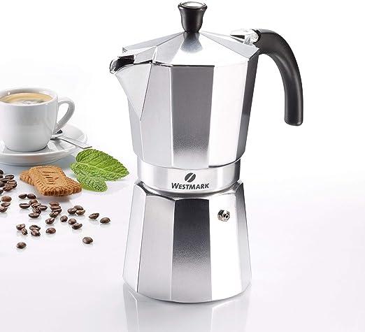 Westmark - Cafetera italiana 9 Tassen plata: Amazon.es: Hogar