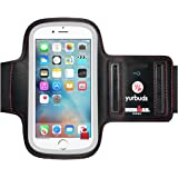 Yurbuds IronMan Series ErgoSport Soft Neoprene Adjustable Universal Armband with Screen Guard Key Pouch for Apple iPhone 7