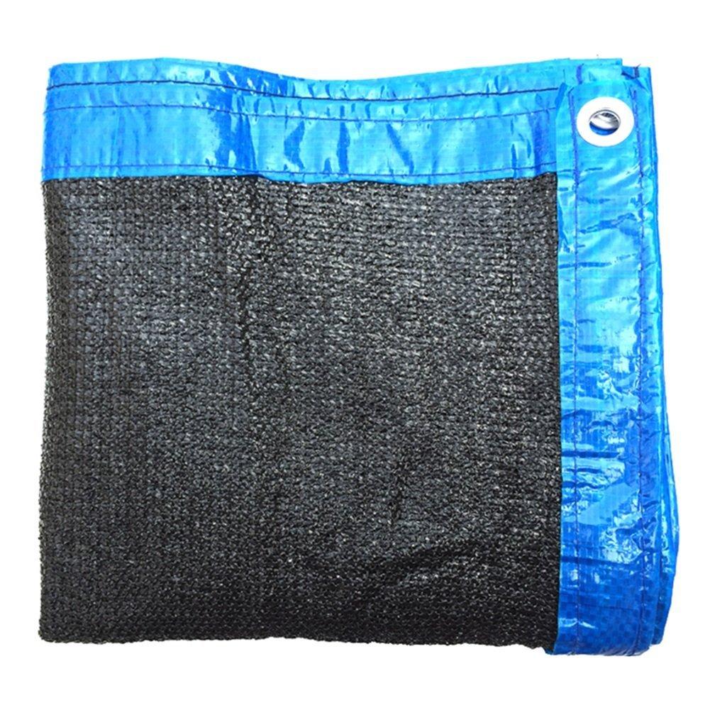 HAIPENG Rete Parasole Serre Antivento 8 Poli Sunshading Net Crittografia Addensare Isolamento Termico Sunblock Protezione Solare Politene Nero (colore   nero, Dimensioni   2.8x3.8m)