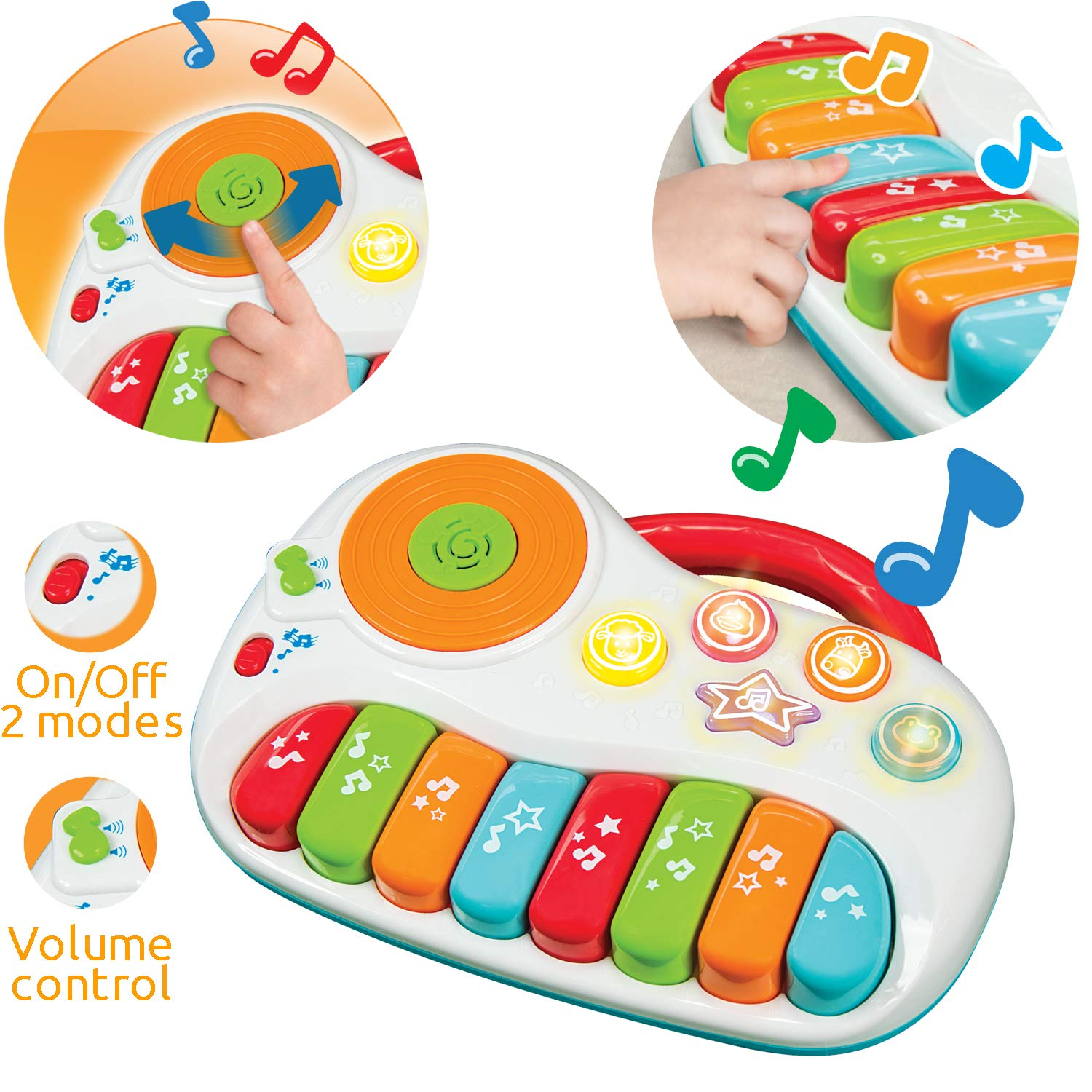 Toddler Piano Baby Musical Instruments for Educational Development Electronic Play Piano Learning Toy with DJ Mixer Kids Keyboard 1-5 Years Age Boxiki