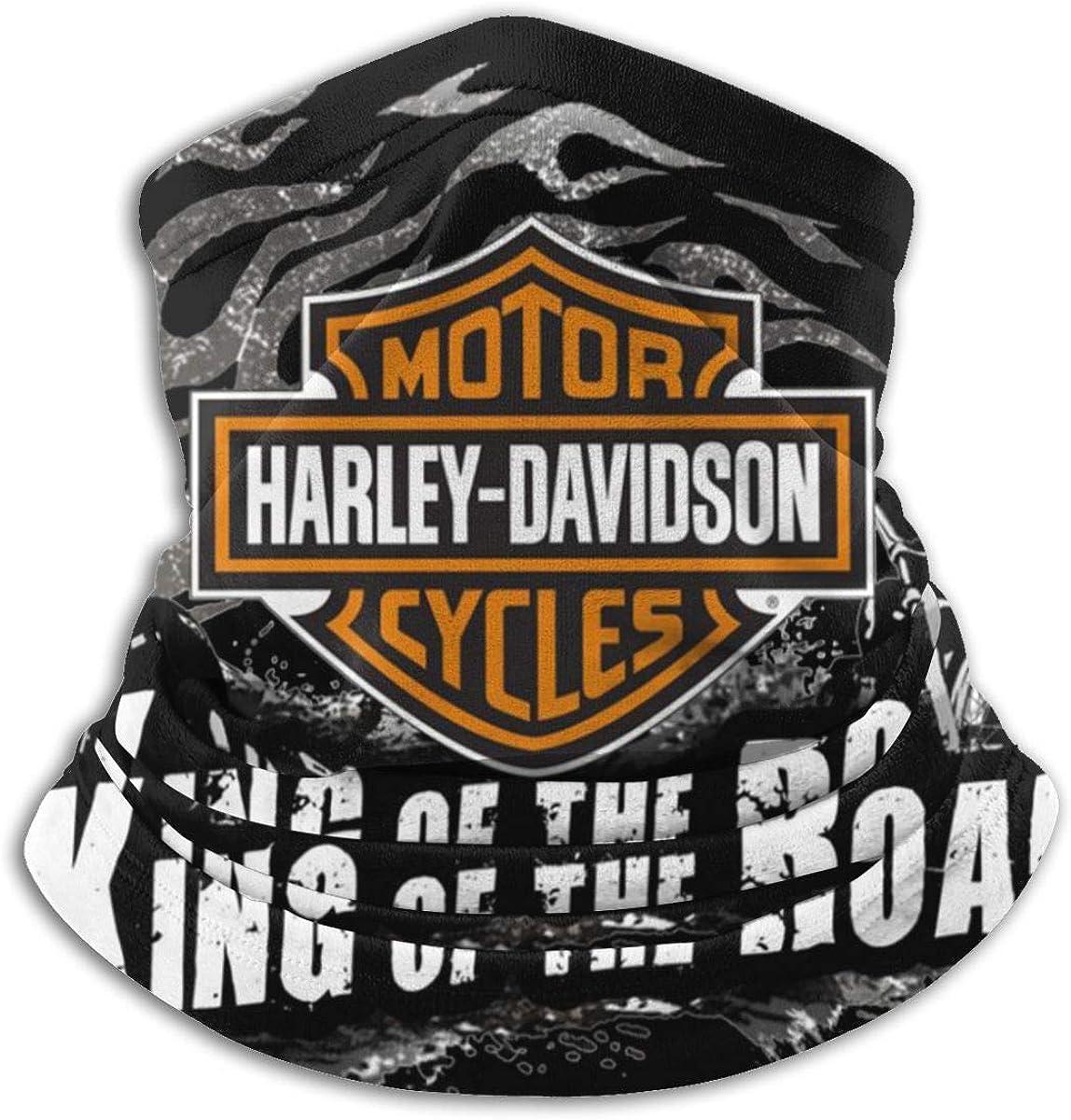 logotipo de Harley David-Son Soft Microfiber Headwear Face Scarf para el clima invernal y mantener el calor para hombres y mujeres BGNHG Polainas para el cuello