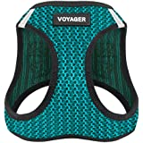 Best Pet Supplies Voyager All Weather No Pull Step-in Mesh Dog Harness with Padded Vest, Turquoise, Medium