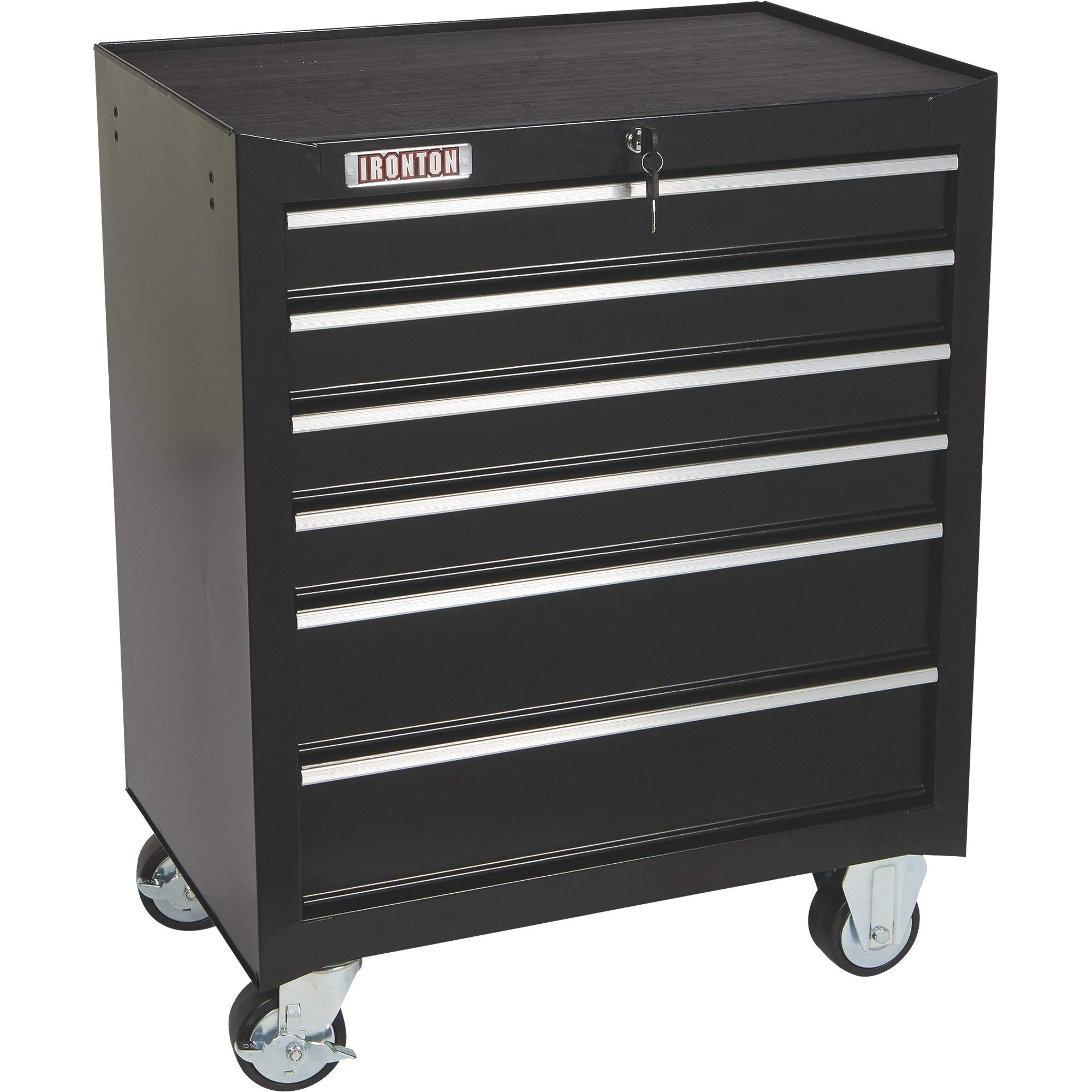 Ironton 26in. 6-Drawer Rolling Tool Chest - 26.75in.W x 18in.D x 33.3in.H