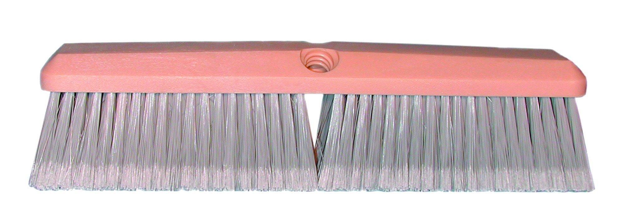 Magnolia Brush 3314 Foam Plastic Block Vehicle Wash Brush, Flagged Polystyrene Bristles, 2-1/2'' Trim, 14'' Length, Gray (Case of 12)