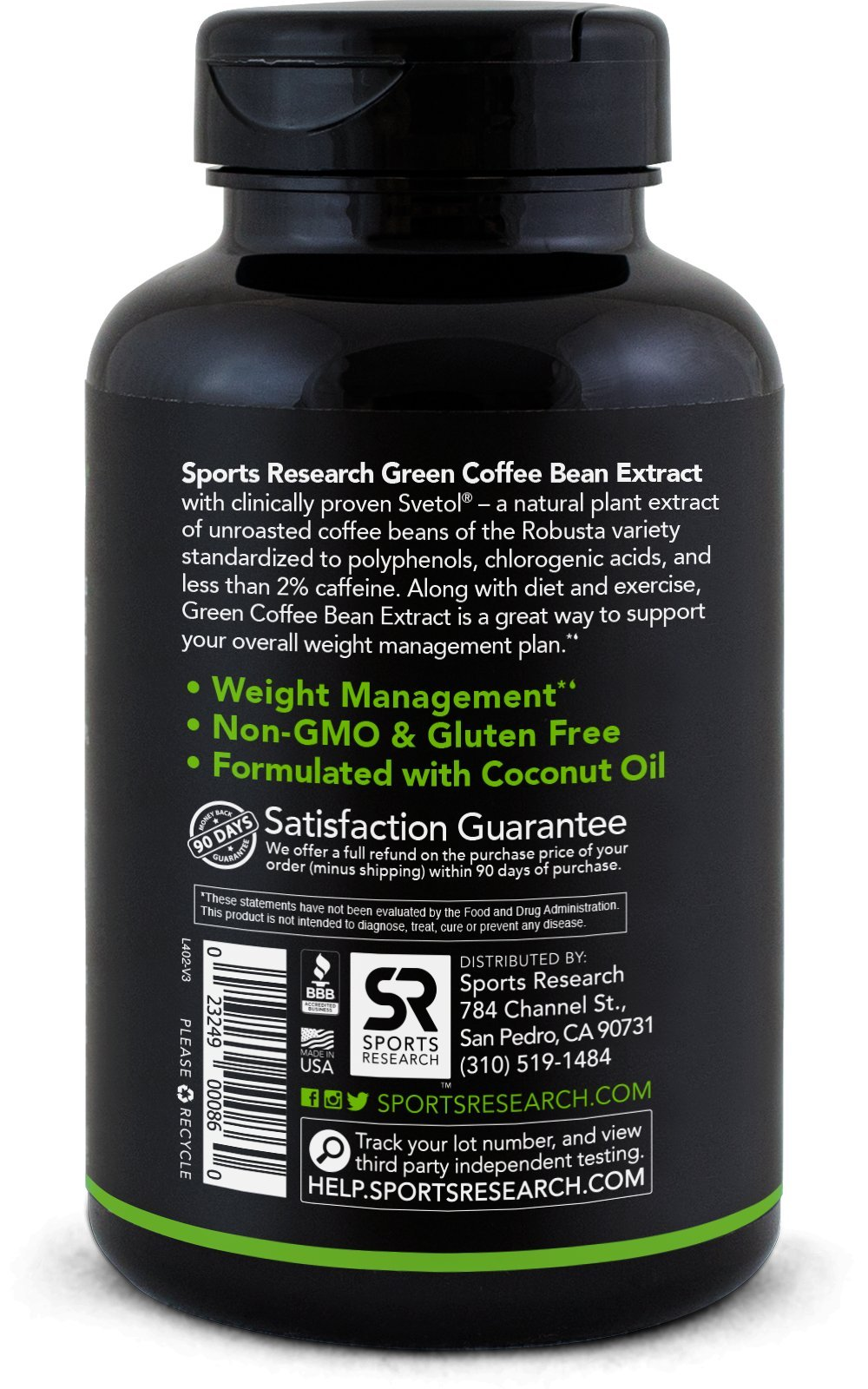 SVETOL Green Coffee Bean Extract, 90 Liquid Softgels with 400mg of Clinically-Proven Svetol Per Cap by Sports Research (Image #7)