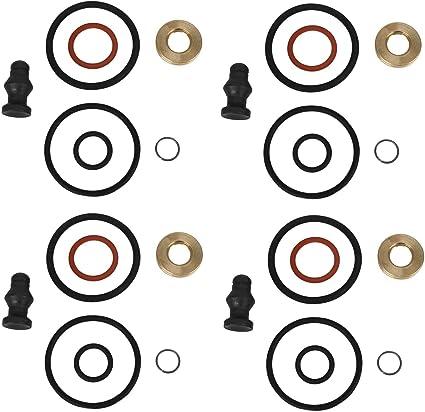 Kraftstoff Einspritzerdichtung Injektor Unterlegscheibe und O-Ring Dichtung Set f/ür 1,6 TDCi//HDI