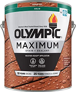 Olympic Stain 79614 Maximum Wood Stain and Sealer