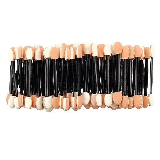 Eyeshadow Sponge Applicators - 100-Pack Dual Sided Eye Shadow Brush Sponge Tipped Oval Makeup Tool - 3.6 x 0.25 Inches