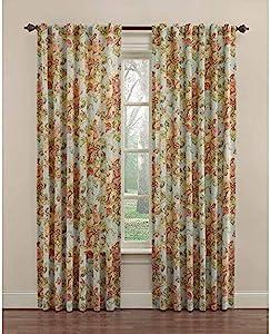 WAVERLY 84-in Vapor Cotton Back Tab Single Curtain Panel