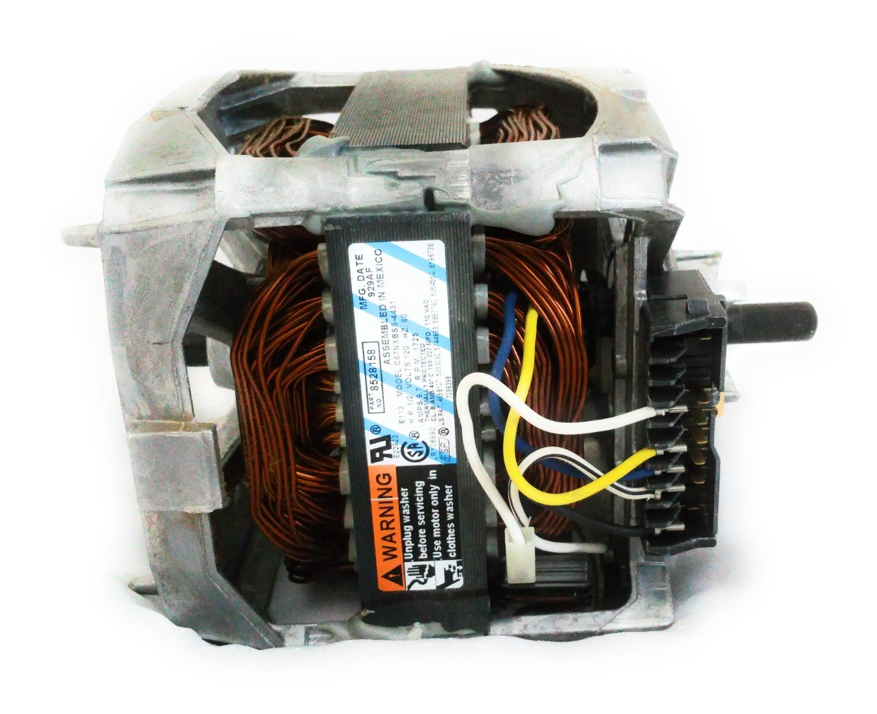 Amazon.com: Genuine OEM FSP Whirlpool Kenmore Sears Maytag Roper Estate  Washing Machine Motor Part # 8528158, 661600: Appliances