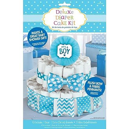 Amscan Itu0027s A Boy Blue Baby Shower Diaper Cake Decorating Kit
