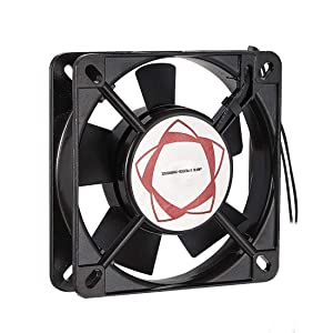 uxcell Cooling Fan 110mm x 110mm x 25mm SF11025AT AC 220/240V 0.10A Long Life Sleeve Bearings