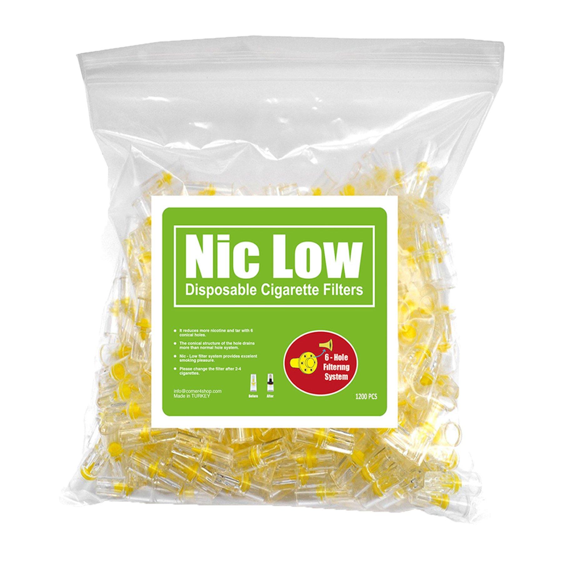Nic Low Disposable Cigarette Filters - Bulk Economy Pack (1200)