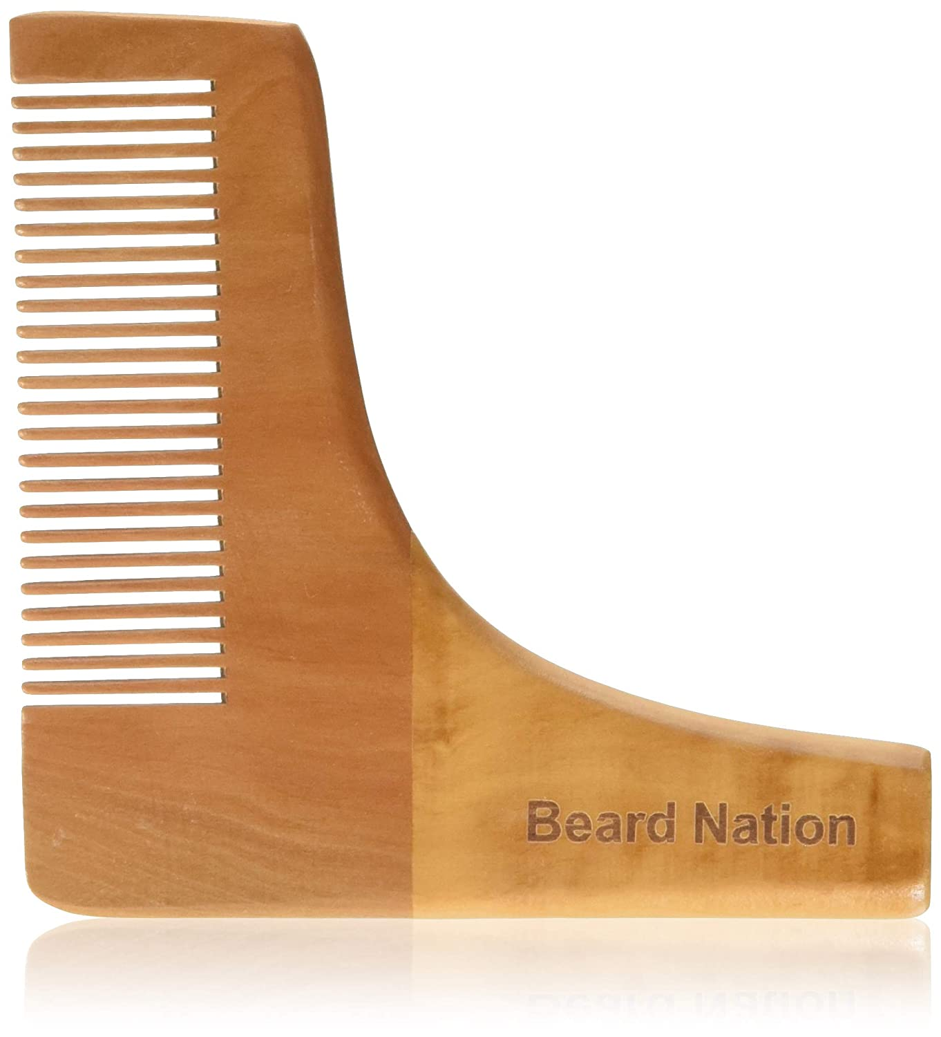 Premium Quality Pear Wood Men's Beard Comb by Beard Nation | Anti-Static, Easily Brush, Shape and Style Your Beard