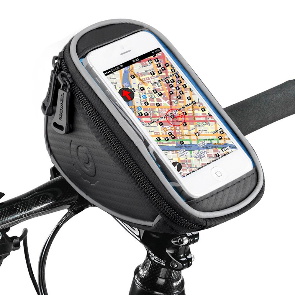 UBEGOOD Bike Phone Bag, Bicycle Front Handlebar Phone Frame Pouch, 5.5inch Waterproof Touch Screen Holder Mount for iPhone 8 7 6 6s Plus/Samsung Galaxy S7 Note 7