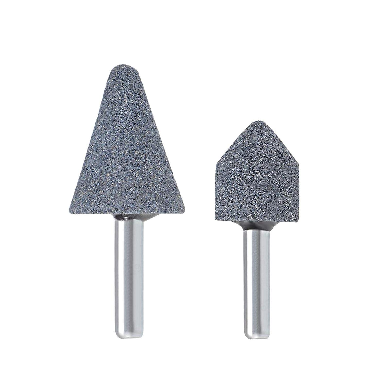 L-Home Conjunto de Puntos de Piedra abrasiva Rueda de Pulido Cabeza de Pulido bit 1//4 V/ástago 2 Piezas