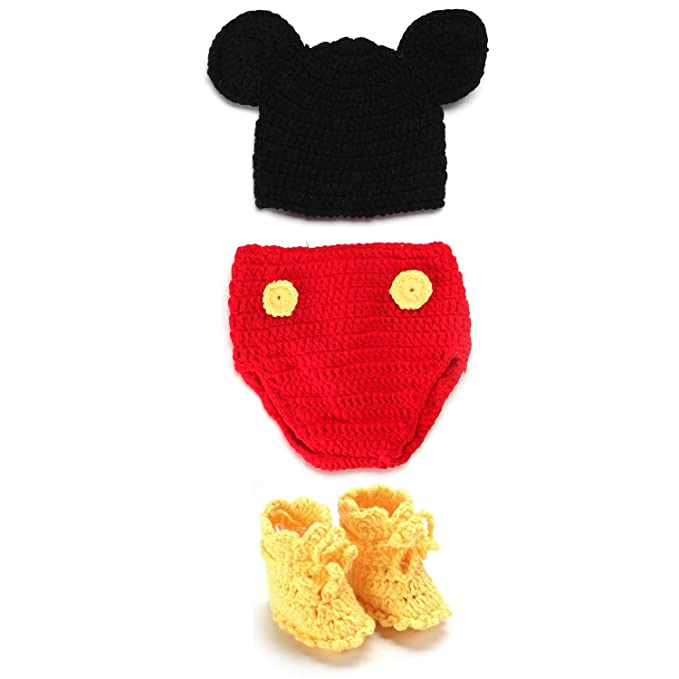 Kinder Baby Strick Mütze Fotoshooting Neugeborene Muster Design Hut