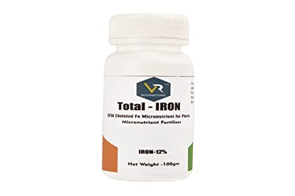 VR INTERNATIONAL Total Iron EDTA Chelated Fe Micronutrient Fertilizer 100gm