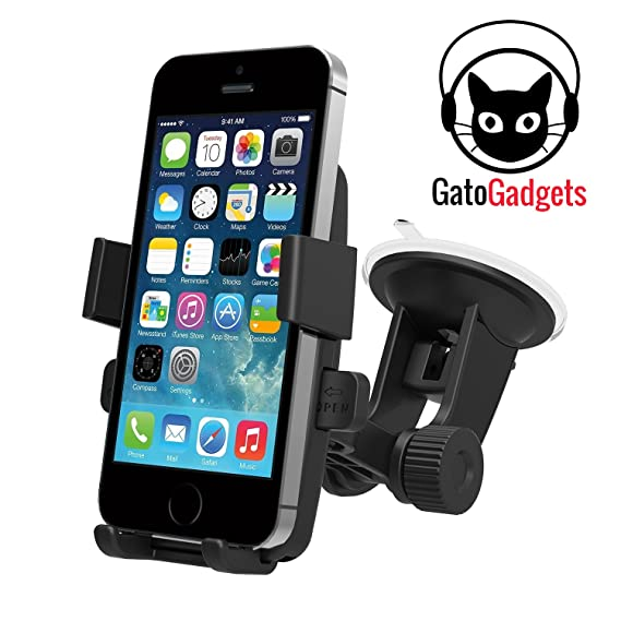 Amazon.com: One Touch Cell Car Mount Holder by Gato Gadgets: Cell Phones & Accessories