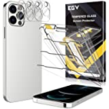 [3+3] EGV Compatible with iPhone 12 Pro Max 5G 6.7-inch, 3 Pack Screen Protector & 3 Pack Camera Lens Protector [9H Hardness