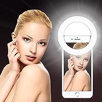 Mix Cart Skin Light Selfie Fill Plastic LED Flash White Light-up Ring for Mobile Phone