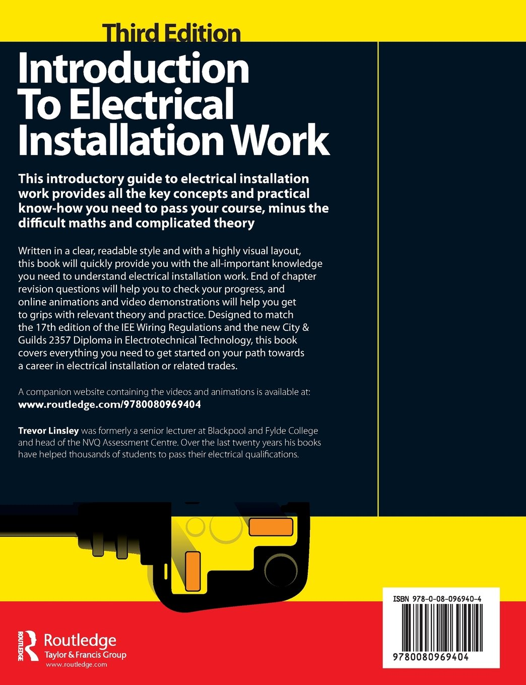 Introduction To Electrical Installation Work 3rd Ed Wiring Electric Oven Uk Free Download Diagrams Pictures Trevor Linsley 9780080969404 Books