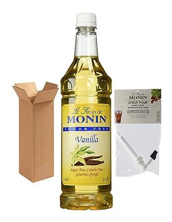 Monin Sugar Free, Calorie Free Vanilla Syrup, 33.8-Ounce Plastic Bottle (1