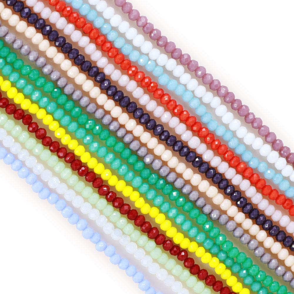 Rondelle Crystal Bead 4mm  Crystal Beads 140 pcs Faceted Full Strand Crystal Glass Bead TS-718 1 Strand anthracite color