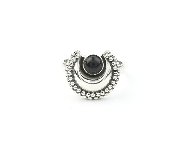 Amazon.com: Black Moon Ring, Sterling Silver Black Onyx Ring ...