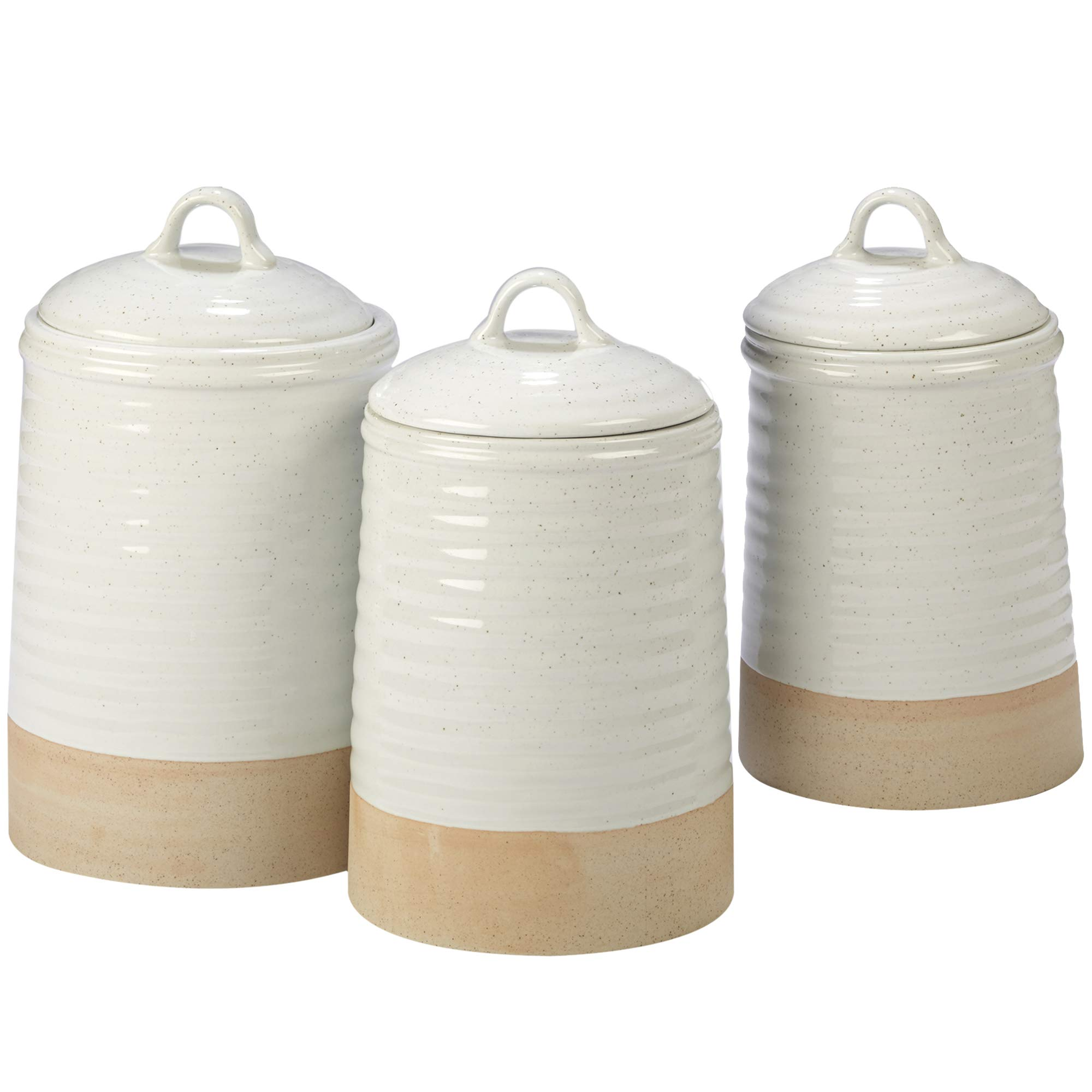 Certified International 23788 Artisan 3 pc Canister Set Servware, Serving Accessories, One Size, Multicolored