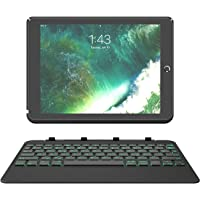 "Inateck Backlight Tastatur Keyboard Case mit Ambient-Hintergrundbeleuchtung und Abnehmbarer Tastatur kompatibel mit 9,7"" iPad 2018 (6. Generation), iPad 2017 (5. Generation) und iPad Air 1, KB02003"